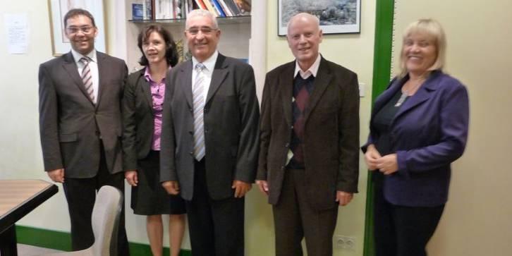Bürgermeister mit Ehefrauen Morez