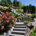 Ferienwohnungen Haus Bachmatt Treppe im Garten